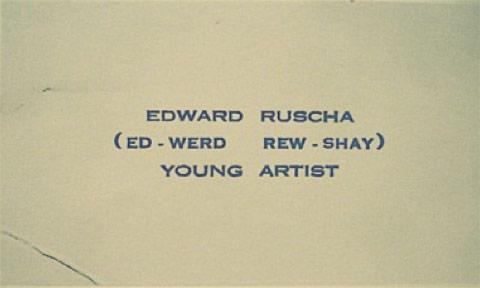 c edward ruscha